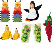 Wholesale Mixed Caterpillar banana peapod Sleepwear toddler sleeping bag sack sleep suit Fleece cotton