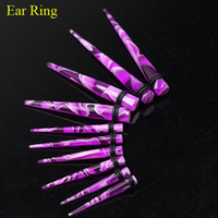 Wholesale UV Acrylic Ear Taper Plug Ring Body Jewelry Purple Piercing Jewelry