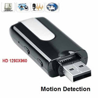 Cheap Spy USB Hidden Camera Pocket Flash Disk Drive Mini DVR Video Recorder Cam Motion Detection 3PC Lot