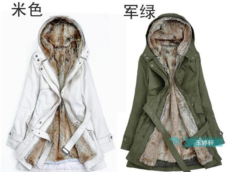 Removable Spring And Winter Coat Fur Liner Thicker Coat Jacket ...