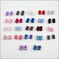 Wholesale newest Hot imitation Silk Tie Knot Cufflinks Cuff Links Cool Color Cuff Links Silk knot colors