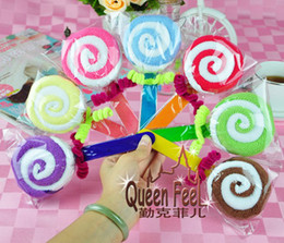 Wholesale Two color dual bar lollipop cake gift towel Children s day Wedding return gift g