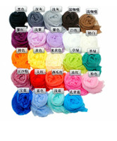 Wholesale Womens girl scarf candy color silk scarves sweet candy wrinkled scarves hot sell silk scarves