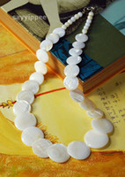 Women's OTHER Beaded Necklaces Natural white Shell Alloy Necklace Jewelry#3770