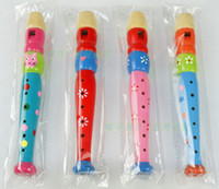 Wholesale Colorful Wooden Music Whistle Toys For Baby Cute Cartoon Clarinet CM