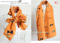 Wholesale 2012 Hot Selling Double sided printing mulberry silk scarves bowknot scarf indxpy
