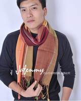 Wholesale 2012 The men and women of gradual change color piece with grid wool scarf match indxpy
