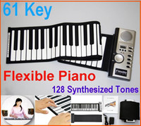 Wholesale Flexible Piano Key Piano Portable piano Roll Up Different Synthesizer with Soft Keys MIDI