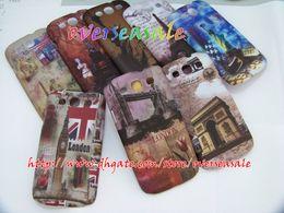 Wholesale UK USA Flag London Paris skin Hard Plastic cover case for Samsung Galaxy I9300 SIII S3