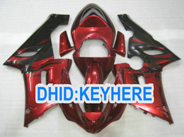 Red flame ABS Fairings for kawasaki Ninja ZX6R 636 2005 2006 ZX 6R 05 06 ZX-6R 05-06 Full Fairing