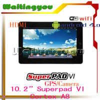 Wholesale 10 quot SuperPad VI Android GB GB WIFI amp OPTION G GPS Camera HDMI Flash