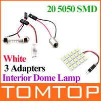 Wholesale White SMD LED Light Panel Car Interior Dome Lamp lm reading festoon led Bulb K519 K524