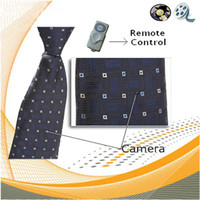 4G Yes  4GB Spy Hidden Neck Tie Camera 720 x 480 with Wireless Remote control China post freeship