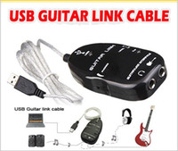 Wholesale Guitar Accessories USB Guitar Link Cable PC To Guitar USB Interface Audio Link Cable MUSI0035