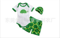 baby outdoor suit - Summer Baby Clothing Baby One Piece Romper Shorts Caps piece Set Suit outdoor Beach Baby s Wear