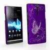 Butterfly Rubberized Hard Case Cover for Sony LT26I Xperia S 50PCS LOT