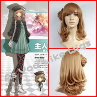 amnesia cosplay - AMNESIA HEROINE Short Brown Braid Women Halloween Hot Anime Cosplay Costume Party Full Hair Wig GW15