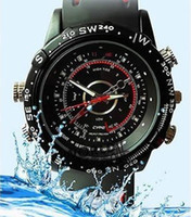 Wholesale 4GB Free shiping spy Anti gear cam HD woman style waterproof watch camera China post