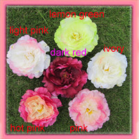 Wholesale colors for your pick peony flower with aligator clip and brooch pin