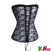 Wholesale New Arrival Sexy Satin Boned Lace Up Corset Bustier Popular Body Shaper CL2025