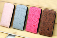 Wholesale Magic Girl Flip Cover for G PU Leather Case Pouch Grey Purple Pink Coffee Meter Red Black Rose