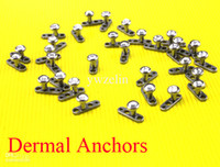 Wholesale Dermal Anchors Body Jewelry jewelled Anodized Titanium L Stainless Steel