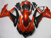 Wholesale Orange black fairing kit for suzuki GSXR K8 GSXR600 GSXR750 GSX R600