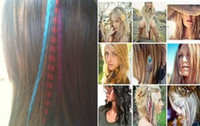 Wholesale New Inch Long Synthetic Grizzly Rooster Feather Hair Extension Feathers Extensions