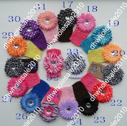 Wholesale 60pcs quot Flower Hair Clips Gerber Flower Hair Bow Clip Crochet Headband B2wsx