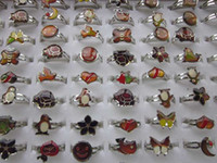 Wholesale mixed Cartoon animals mood rings butterfly smile heart peace dove fashion rings jewelry Fr