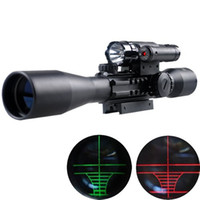 Wholesale Bu X40 E rifle gun airso ft hunting Scope scopes w Red Laser B Flash Torch