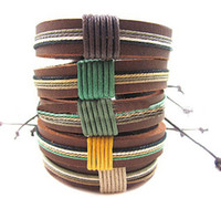 Wholesale The latest Korean version Thick handmade leather bracelet Couple bracelet