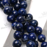 Wholesale 5 MM NATURAL LAPIS LAZULI GEMSTONE ROUND BALL LOOSE BEAD piece ONE STRAND inch