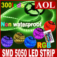 Wholesale Good quality SMD RGB Led Strip Light non waterproof m LED String Remote control decoration