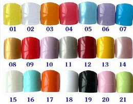 Wholesale 500pcs Nail art tips False French Acrylic Nails diy for Toe size of a packet21colors
