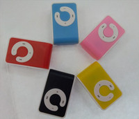 Wholesale Mini Clip MP3 Player Card Reader MP3 Player With TF SD card slot Newest Style Color FreeShip