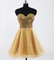 2013 Graduation Dresses Cheap Sweetheart Tull Sequin Cocktai...