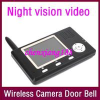 3.5inch wireless door camera - New inch G wireless door camera Door bell Take photo Night vision video