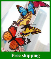 Wholesale Popular Simulation of Butterfly Fridge Magnet Refrigerator Magnets Kids Toys