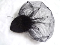 Wholesale 12pic Party Feather Hair Fascinator Stage Performance Fancy hair accessories Black