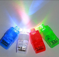 Wholesale LED Finger Ring Lights Beams Rave Bright Laser Party Glow for Party Pub Bars Colors christmas p