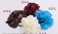 Wholesale 15pcs Hair Jewelry Accessories Camelia Flower Hair Clip Fabric brooch beautiful flowers hair clips