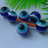 Wholesale DIY JEWELRY accessories beads hot sale cute Evil eyes charms beads for bracelet BL20005 mm