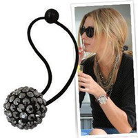 Wholesale new full bling crystal ball hair ring hair band women hair accessory