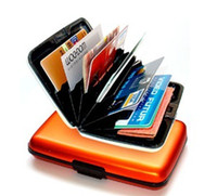 Wholesale 1pcs Aluminium Credit card wallet cases card holder bank case aluminum wallet with white box