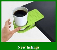 Wholesale Hot Drinklip Cup Holder Table Glass Cups Clip Space Saving Holder Convenient Kids Gift
