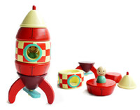 Wholesale DIY D Puzzles Magnetic amp Wooden Rocket Ship Toys Best Educational Gifts For Kids