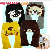 Wholesale Children s Trousers Kid s Zoo winter pants Lion Pant Yellow Dog pants children wear kungfuboy