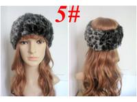 Wholesale Fashion faux fur women s winter headband FREE SHIPPPING