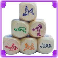Wholesale 300pcs spice dice Wood housework dice lovers Game leisure entertainment craps Sex toys
